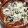 Escargot with Creamy Garlic & Roquefort Sauce